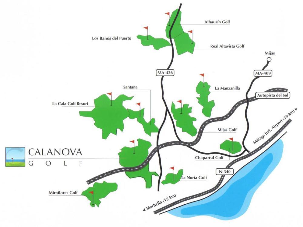 Location Calanova Sea Golf La Cala de Mijas Mijas Golf Valley